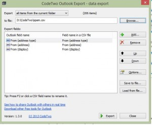 CodeTwo Outlook Export